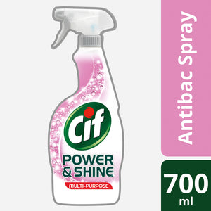 Cif Power & Shine Anti-Bacterial Spray, 700ml