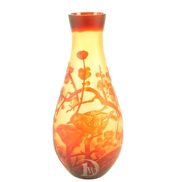 Glass Vase with Cherry Blossom