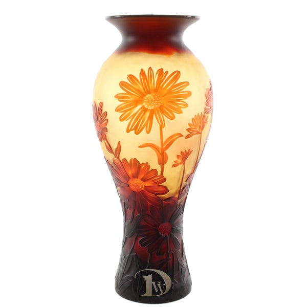 Glass Vase with Daisies