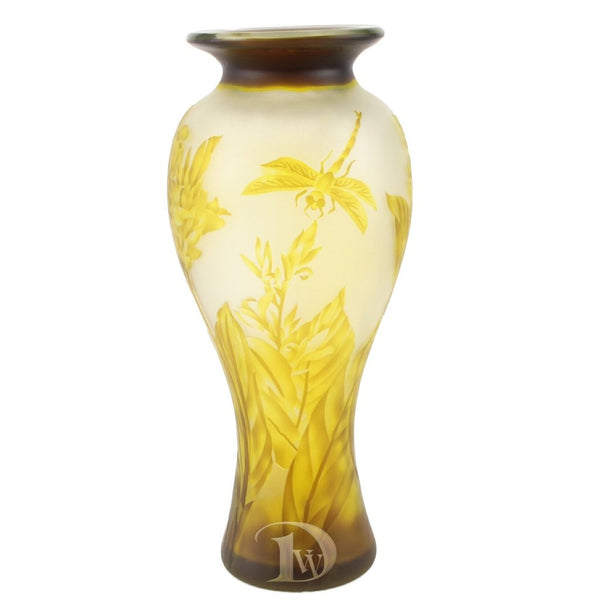 Glass Vase with Dragonfly