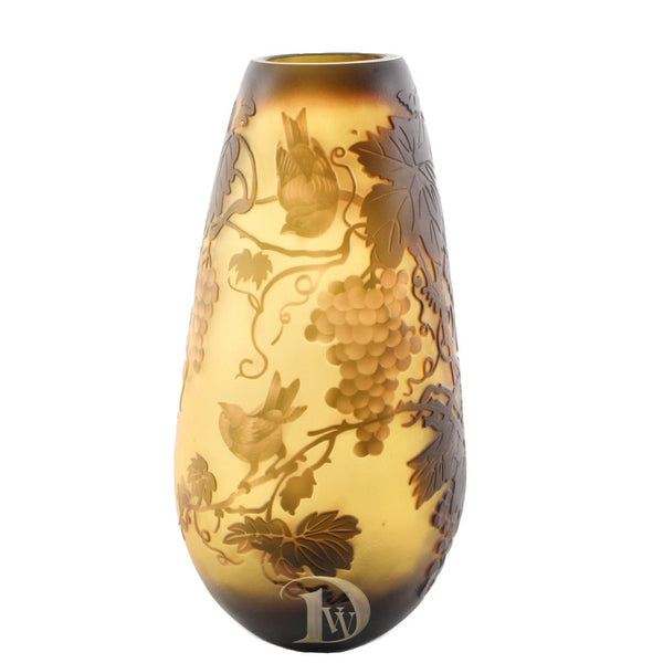 Glass Vase with Grape Wine