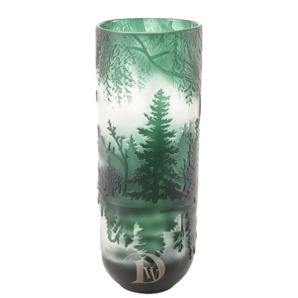 Cameo Glass Vase Lake