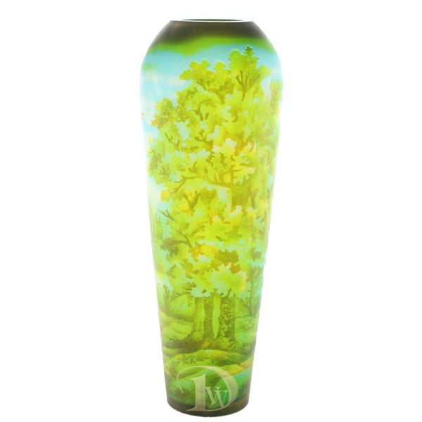 Glass Vase with Oak Forest