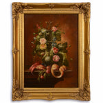 Flowers Oil Painting in Golden Frame