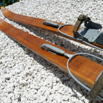 Antique Wooden Skis Honey Finish