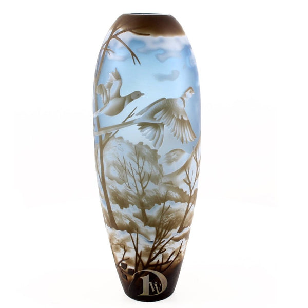 Glass Vase with Geese big