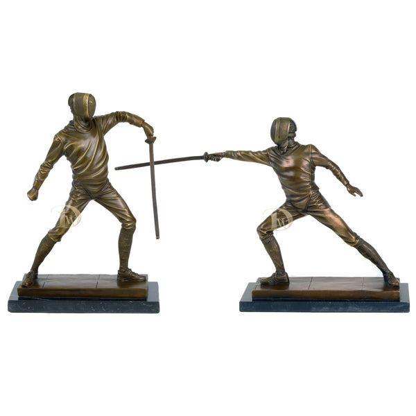 The Fencing Bronze Sculptures Set