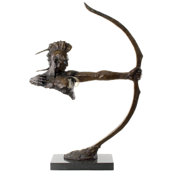 Indian Warrior with a Bow Bronze Sculpture