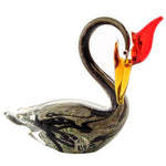 Glass Figurine Black Swan