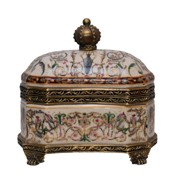 Porcelain Royal Box with Lid