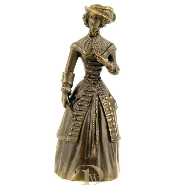 Bronze Table Bell Lady