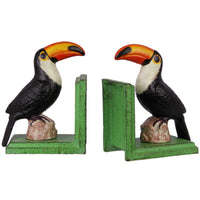 Bookends Set with Toucan Figurines
