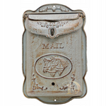 Vintage Style Letterbox Horses White
