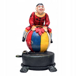 Mechanical Bank Clown on Ball