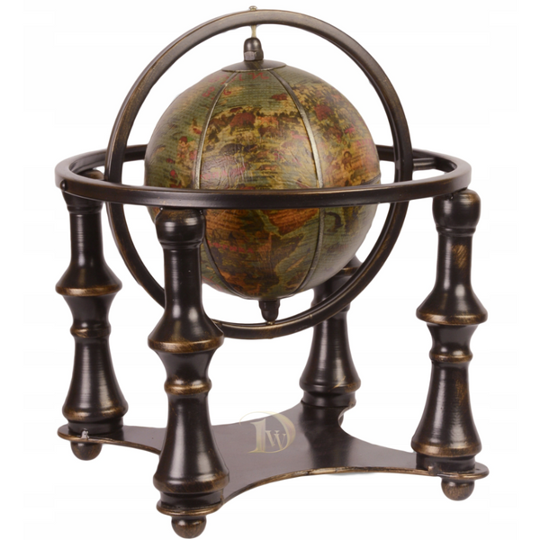 Terrestrial Globe on Brown Stand