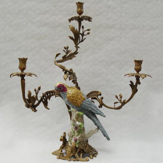 Candle Holder with Parrot