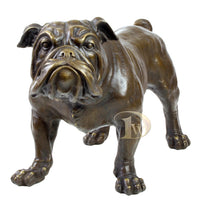 English Bulldog Bronze Sculpture