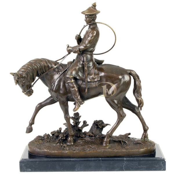 Signalman on Horse Bronze Sculpture
