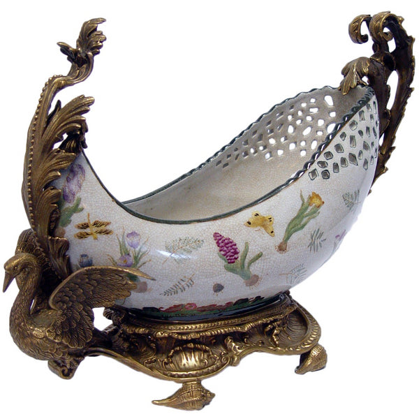 Porcelain Bowl with Swan