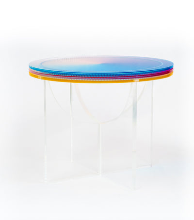 'SUBTRACTIVE VARIABILITY CIRCULAR' SIDE TABLE
