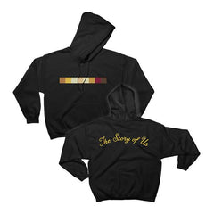 """The Story Of Us"" Black Pullover Hoodie"