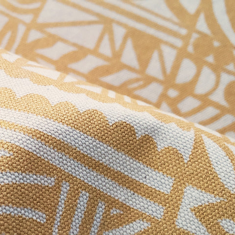 Screenprinted Fabric: Triangles in Gold