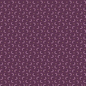 Benartex  by Rose Ann Cook, Modern Antiques, Florets Plum, 2142-66