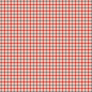 Benartex  by Rose Ann Cook, Modern Antiques, Plaids Coral, 2145-26