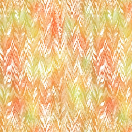 QT Fabrics, Belle, Watercolor Chevron, 26420-OS, Orange/Sunlight,