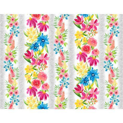 Wilmington Prints, Bloom Time, Border, 3021-10501-139