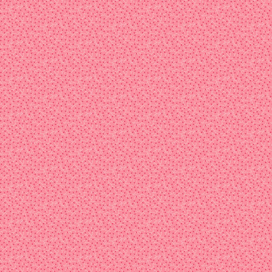 Andover Fabric, Trinkets by Kathy Hall Pink/Feathered Vine A-8156-E