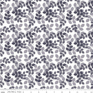Riley Blake Designs, Mary Elizabeth, Leaes, C7924-Gray