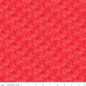 Riley Blake Designs, Crayola Kaleidoscope, CR480, Scarlet