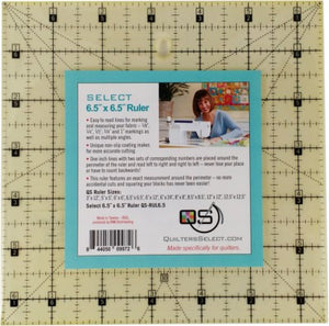 "Quilter's Select Quilting Ruler 6.5"" X 6.5"""