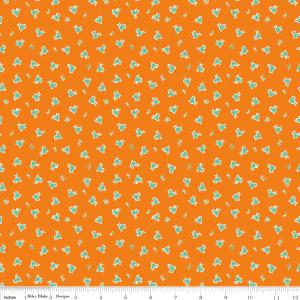 Penny Rose Fabrics, Toy Chest 3, Toy Birds, Orange, C6760
