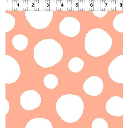 Clothworks, Soft Spot, Plush, Large Dot, Orange, Y2100-36