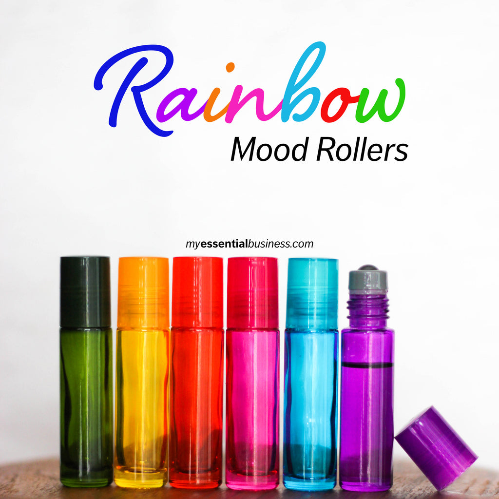 D.I.Y. Rainbow Mood Roller Bottles {with essential oils!}