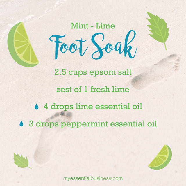 DIY Mint-Lime Foot Soak