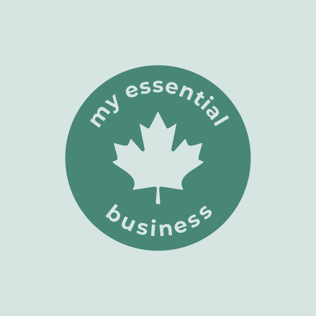 My Essential Business is Canadian and proud of it. Logo. A local small business that works in the essential oil space, bring quality glass bottles and roller bottles to Canada.