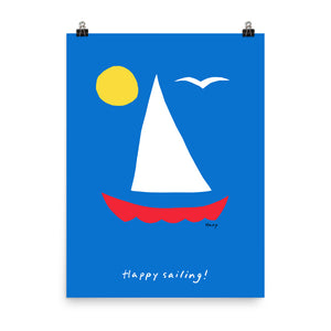 Happy Sailing Poster