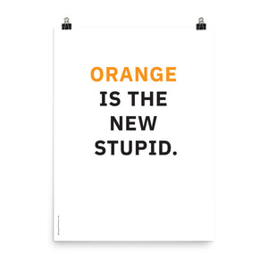 Orange is the New Stupid Poster