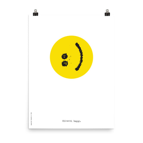Olivetti Happy Poster
