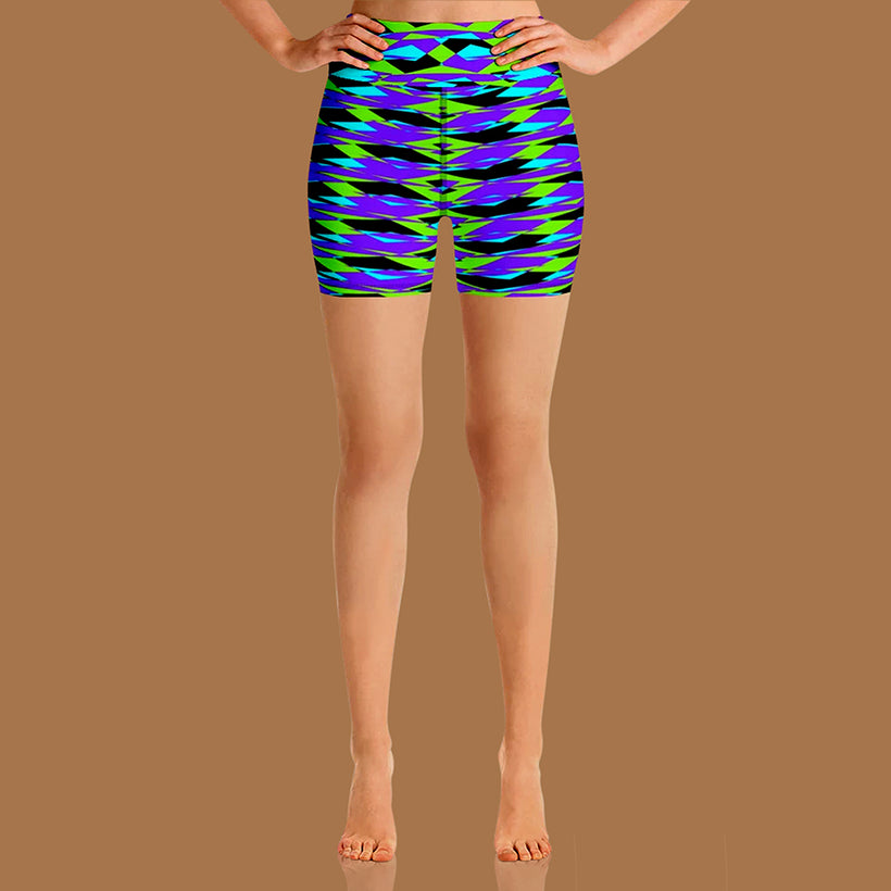 GEOMETRIC RESONANCE YOGA SHORTS