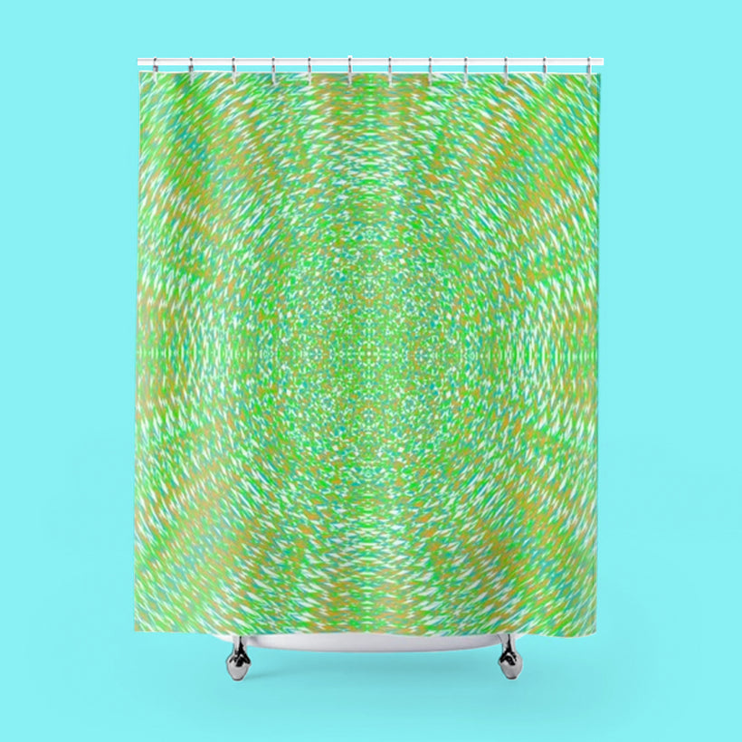 GEOMETRIC RESONANCE SHOWER CURTAIN