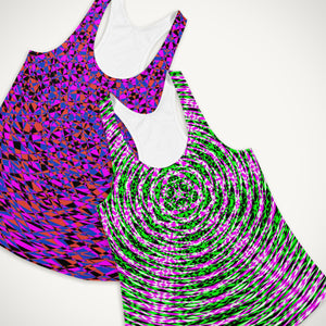 Modern Geometric Resonance Yoga Tops . Yoga Wear