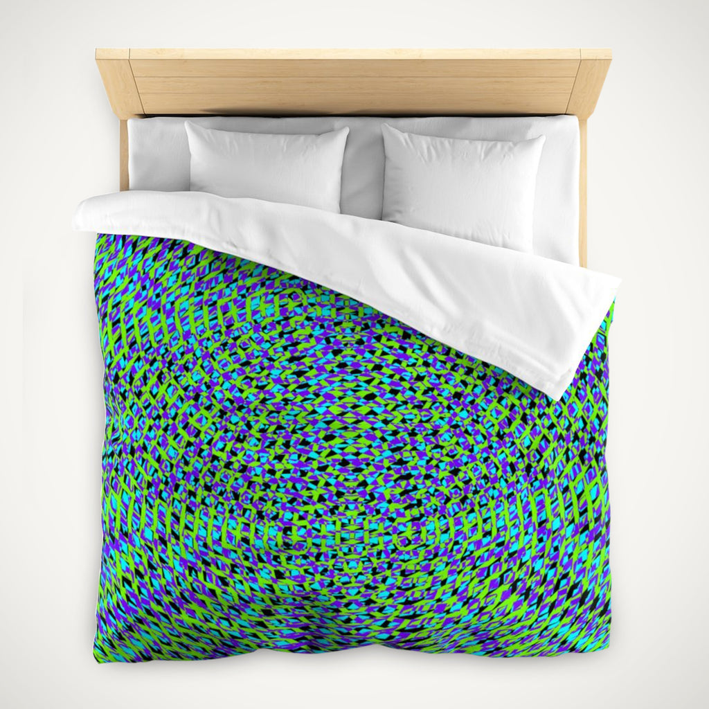 Modern Geometric Resonance Duvet Cover . Home Decor