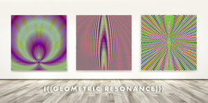 Modern Geometric Resonance Art Prints and Wood Prints . Home Decor