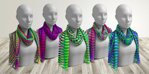 Modern Geometric Resonance Women's Scarves . Accessories