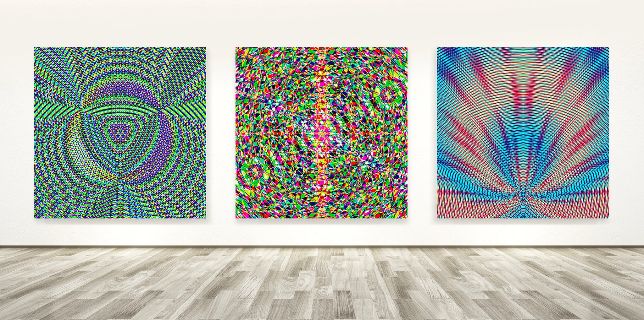 Geometric Resonance Wall Art