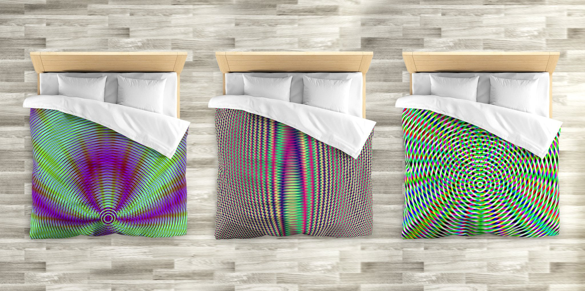 GEOMETRIC RESONANCE DUVET COVERS